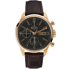 Bulova Accu Swiss Men's 64C106 Automatic Murren Chronograph Leather Band Watch
