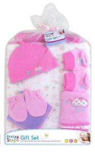 First Step`s Newborn Baby Gift Set 9 Pcs Pink 0-3m Baby shower