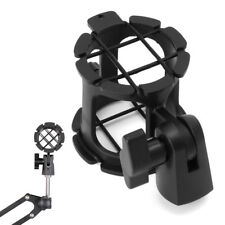 Black Universal Handheld Condenser Microphone Shock Mount Clip Mic Holder Stand