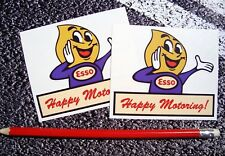 ESSO Oil Drip Person happy motoring classic Stickers Retro Vintage F1 Lemans