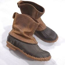 LaCrosse Mens Trekker Leather Rubber 7-Inch Brown Snow Duck Boot Size 7
