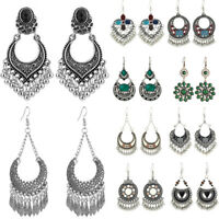 Fashion Bohemian Jewelry Elegant Silver Long Hook Drop Dangle Tassels Earrings