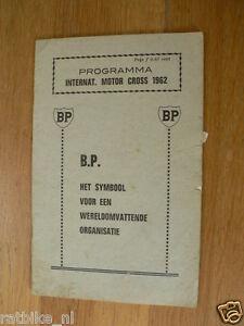 1962 INTERNATIONALE MOTOCROSS VEENENDAAL BP PROGRAMME MX