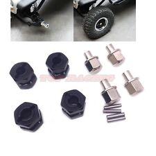 Alloy 12mm Offset Hex Adaptor 12mm Hex Hub Wheels (Black) For Rc Crawler Truck