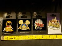 NOS Disney Mickey Minnie Pluto Sunset Disneyland 2006 Tinkerbell 2007 Pins Lot