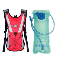 2L Water Bladder Backpack Hydration Survival Water Bag Cycling Climbing Red