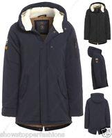 garçons VESTE PARKA CAPUCHE POLAIRE école hiver noir bleu marine âge manteau