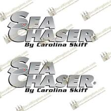 Sea Chaser by Carolina Skiff Boat Decals - Set of 2 Marine Grade