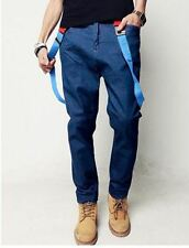 Men's Fashion Slim Fit Straps Preppy Jeans
