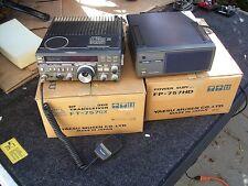 Yaesu FT-757GX  HF transceiver ham radio with power supply.and boxes