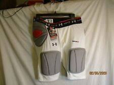 New Xl White Under Armour Mp3 Padded Football Compression Shorts-Nwt Retail $79