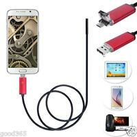 2 in 1 Android USB Endoscope Inspection 7mm Camera 6 LED HD IP67 Waterproof Nice