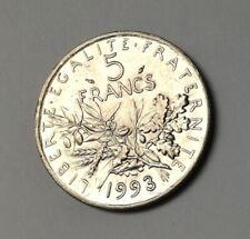 Pièce de monnaie 5 Francs Semeuse 1993 République Française