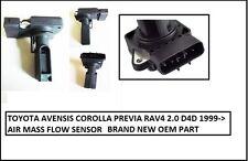 Se adapta a; Toyota Avensis Corolla Previa RAV4 2.0 D4D 1999 - > Sensor de flujo de masa de aire