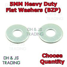 M5 Metric Flat Washers - Heavy Duty Zinc Washer 5mm (BZP) 5mm x 12mm x 0.8mm