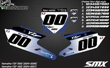 2014-2017 YZF 250 YZ450F custom number plates backgrounds Yamaha decals MX YZ F