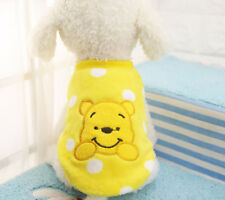 Warm Yellow Cartoon Teddy Dog Clothes Vest Small Medium Pet Winter Apparel