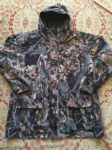 COLUMBIA ~ Men's Fleece-Lined Break-Up Camo Full-Zip Hooded Parka ~ Sz XL ~ EC ~