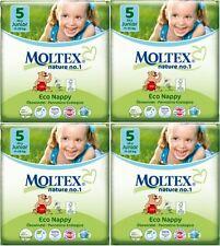 104 Couches écologiques MOLTEX  JUNIOR , Taille 5 - 11/25 Kgs - 4 x 26 couches