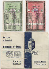 ROMANIA STATE LOTTERY gh stanoiu 2 X 1/4 LOZ CLASA 1, 2 1938 UNC WITH ENVELOPE