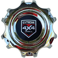4 x Chrome Screw-In Centre Cap Domes to Suit 6/139.7 Maximum 106.1 Centrebore