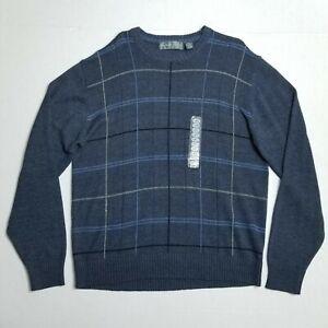 Oscar de la renta Grayish Blue crew neck sweater - Men's XL - NEW