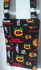 Chicago Blackhawk Purse -Hand Made to Order- Cross body - Hipster - Hockey NHL