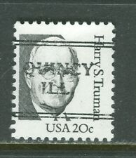 Quincy IL 241 DLE precancel on 20 cent Truman Great American issue