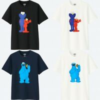 Sesame Street & KAWS & UNIQLO T Shirt Elmo Cookie Monster Free Shipping From JP