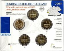 2 EURO COMMEMORATIVO GERMANIA 2009 ADFGJ Folder Ufficiale Fdc Saarland