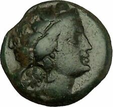 KALLATIS in THRACE RARE200BC Dionysus Wine God Thyrsos Ancient Greek Coin i39955