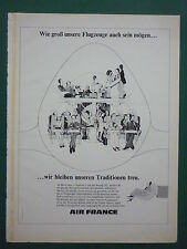 10/1975 PUB AIR FRANCE AIRLINE BOEING 747 AIRLINER PASSENGER PASSAGERS GERMAN AD