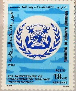 MAURITANIA MAURETANIEN 1983 790 C218 Intl. Maritime Org. Emblem Ships Schiff MNH