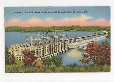 USA, Conowingo Dam & Poer House, Bel Air & Havre de Grace 1988 Postcard, A560