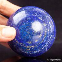 368g 61mm Large Natural Blue Lapis Lazuli Quartz Crystal Sphere Healing Ball