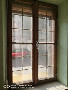 Alte Sprossenfenster mit rahmen