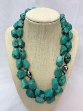 Beautiful Luc Sterling 925 2 Strands Turquoise necklace
