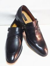 Pronto Uomo Fawn Black Double Monk Strap Slip-On Shoes(NEW/BOX )SIZE 8-D #2526-3