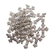 Silver Filigree Cross 30x45mm MM05 - Bulk Pack Of 20