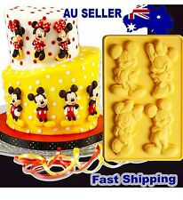 Mickey Minnie Mouse Disney Baking Tool Cake Fondant Silicon Mold Mould Cartoon