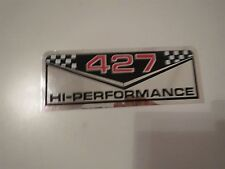 CHEVROLET 427 HIGH PERFORMANCE 427HP VALVE COVER DECALS STICKERS SET PAIR NEW