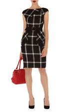 Karen Millen DP297 Graphic Check Tartan Evening Occasion Office Dress Size 12