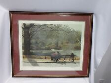 Harold Altman The Bench 1985 Pencil Signed Numbered  Limited Edition Framed