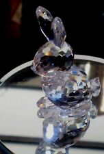 "Swarovski Crystal Long Eared Rabbit 2 1/8"" Austria"