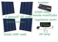 Kit Fotovoltaico Inverter 2000W Pannello Solare 200W regolatore carica 50 amp
