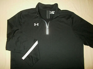 UNDER ARMOUR ALL SEASON GEAR 1/4 ZIP LONG SLEEVE BLACK PULLOVER MENS 2XL EXCELL.