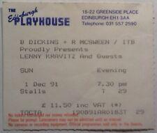Lenny Kravitz Original Genuine Used Concert Ticket Playhouse Edinburgh 1991