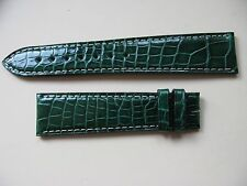 Brand New Zenith Dark Green 20mm Crocodile Strap No. 460 - VERY HARD TO SOURCE