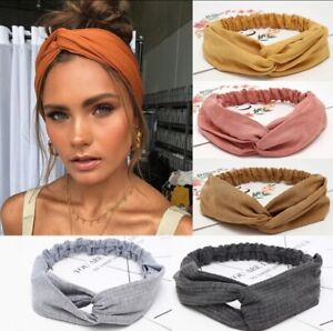 New Twist Knot Head Wrap Boho Headband Knotted Women Ladies Elastic Hair Band UK