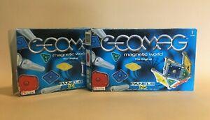 2 x Geomag Sets - 84 & 125 - Magnetic World The Original - 3 Panels Missing